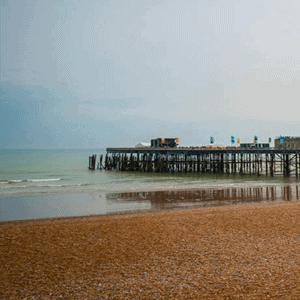 Hastings Pier Beach